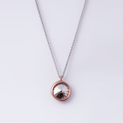 Silver Shade Single Stone Necklace