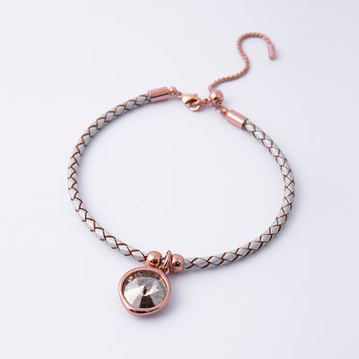 Silver Shade Leather Bracelet