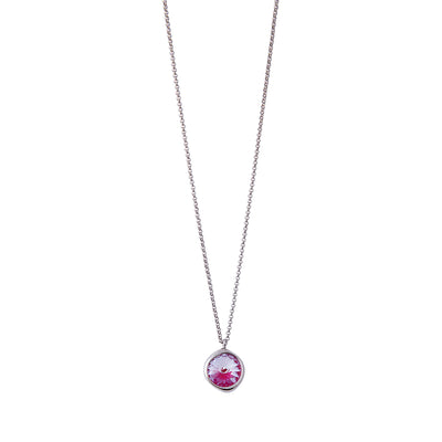 Lotus Pink Delite Single Stone Necklace
