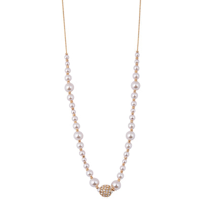 Agnelia Gold & Pearl Necklace