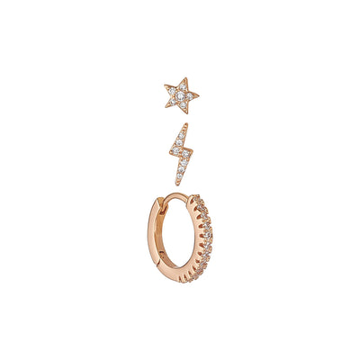 Aubrey Rose Gold Earring Set