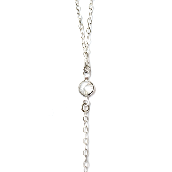 JACKIE CRYSTAL LARIAT NECKLACE