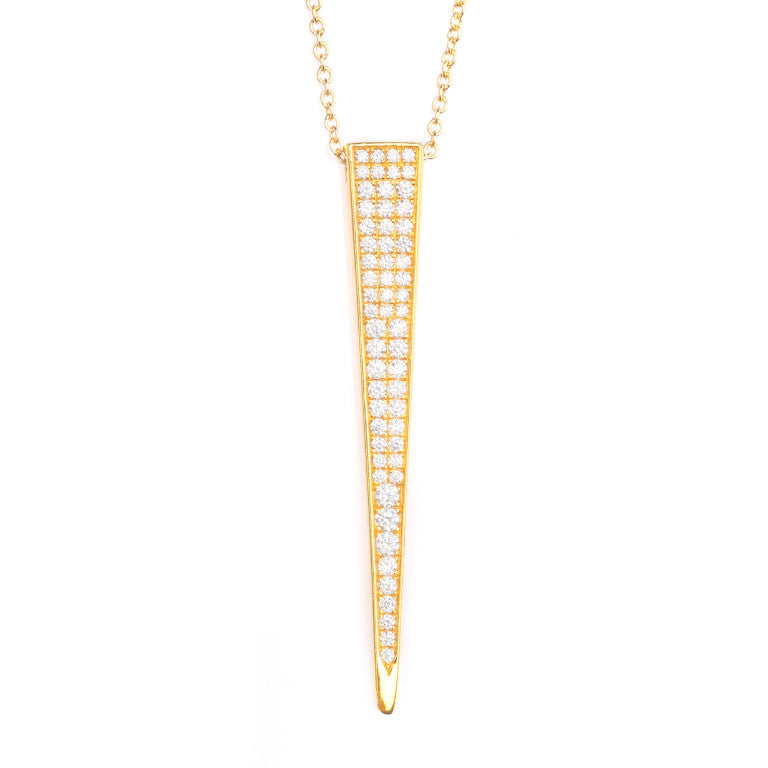 COSIMA CRYSTAL PAVÉ SPIKE NECKLACE