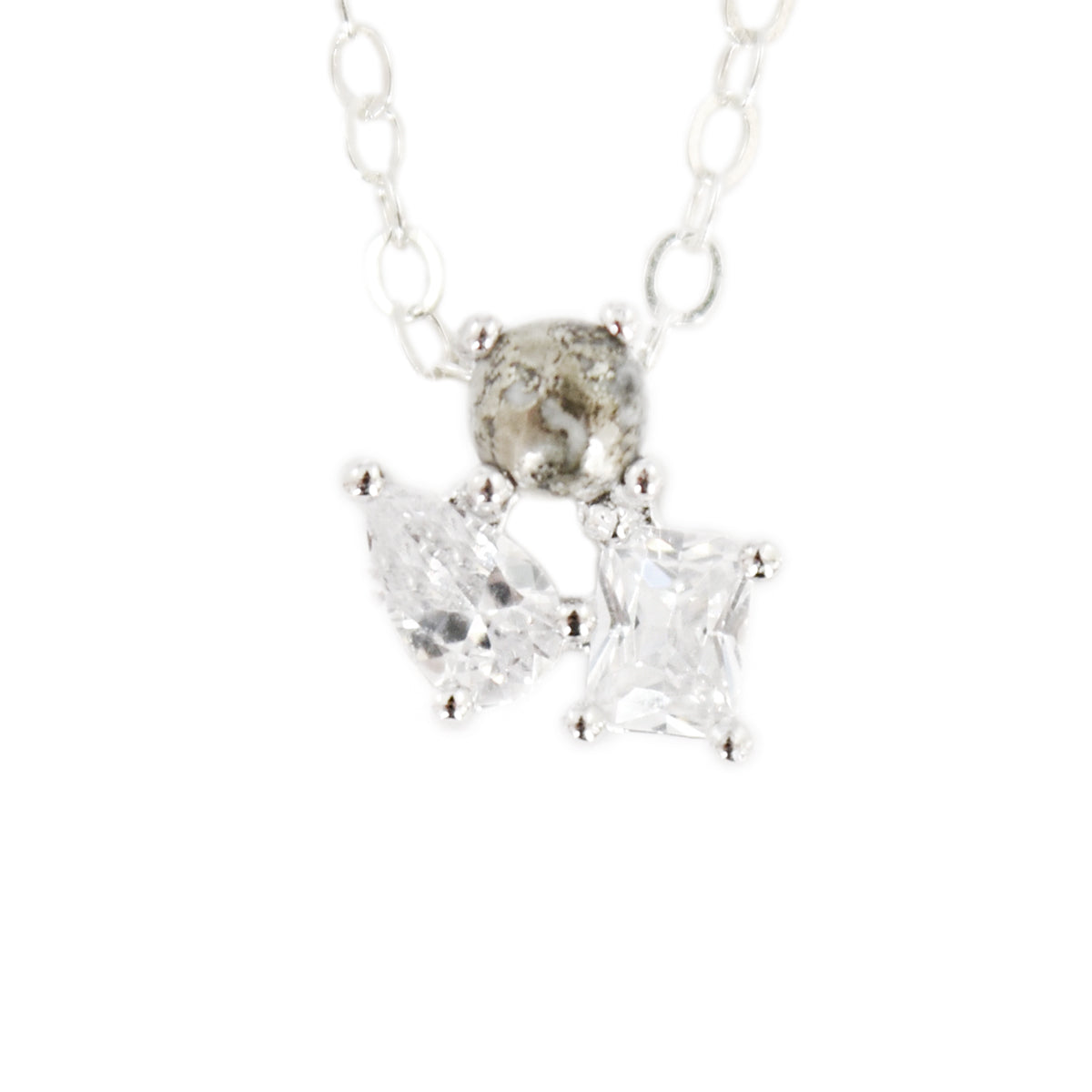 NEELY CRYSTAL + PYRITE CLUSTER NECKLACE