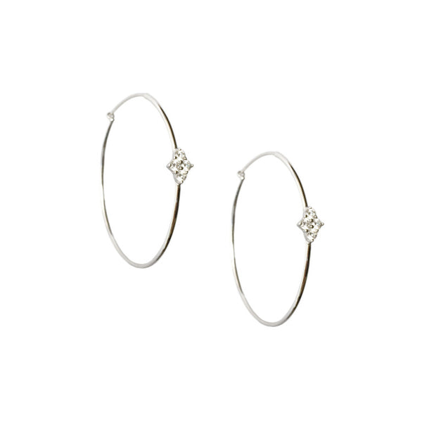 SANDRINE CRYSTAL HOOP EARRINGS
