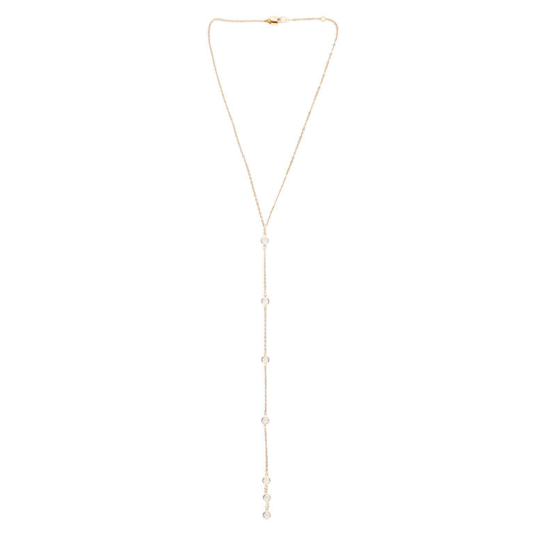 SIMCA SWAROVSKI CRYSTAL LARIAT NECKLACE