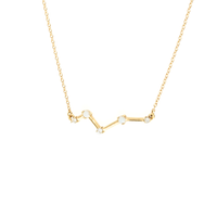 14K GOLD OPAL AND DIAMOND CONSTELLATION BAR NECKLACE
