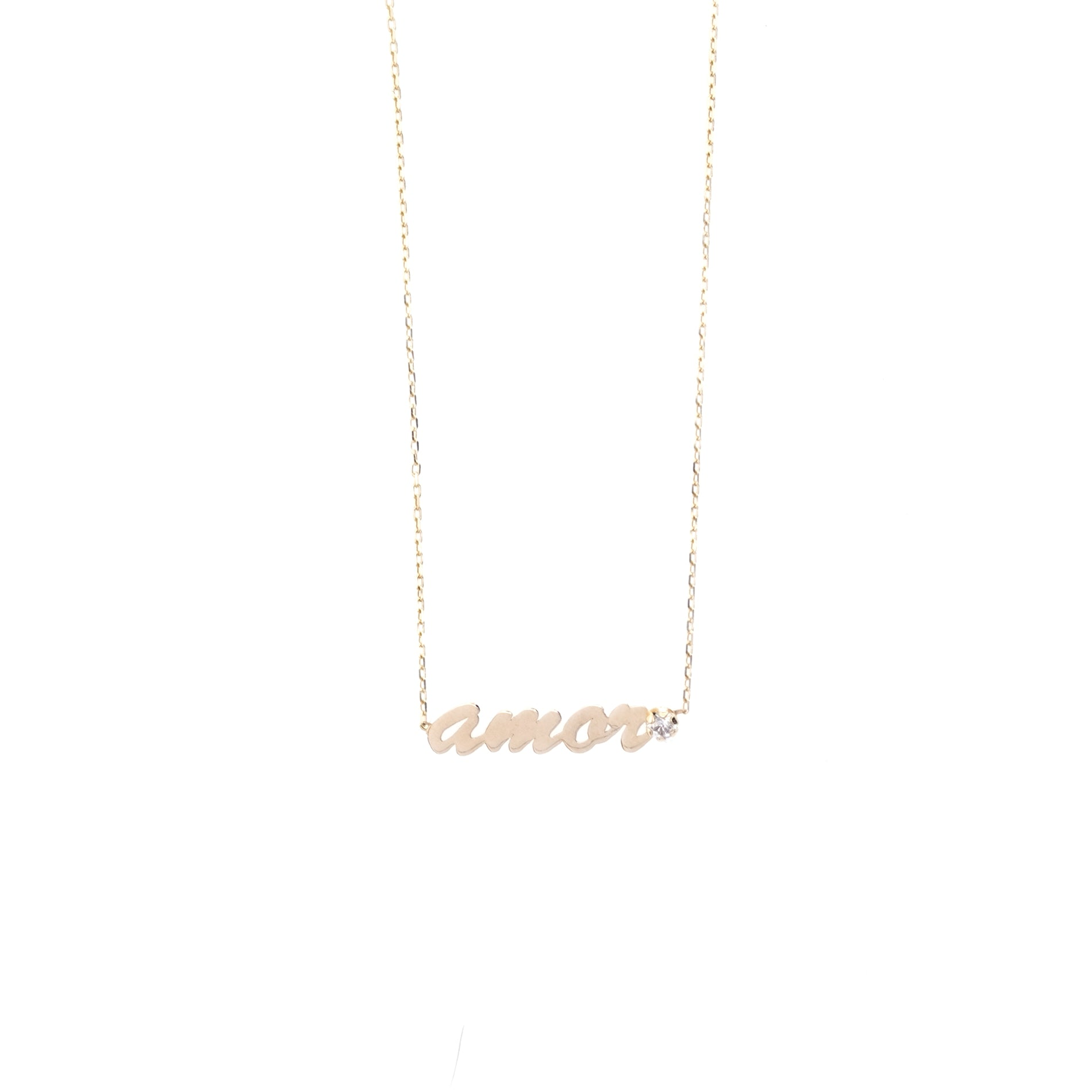 14K YELLOW GOLD AMOR NECKLACE