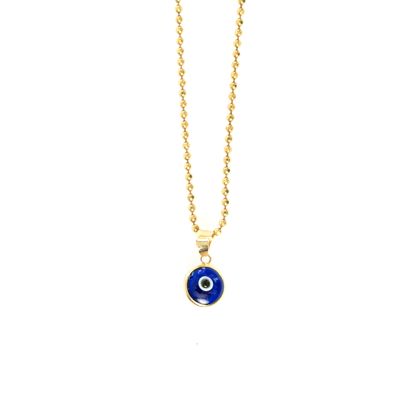 EVIL EYE ON BALL CHAIN
