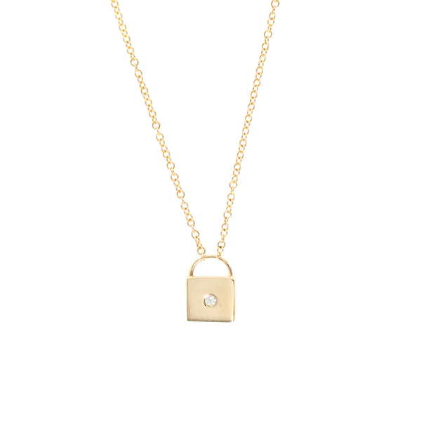 GOLD LOCK PENDANT NECKLACE