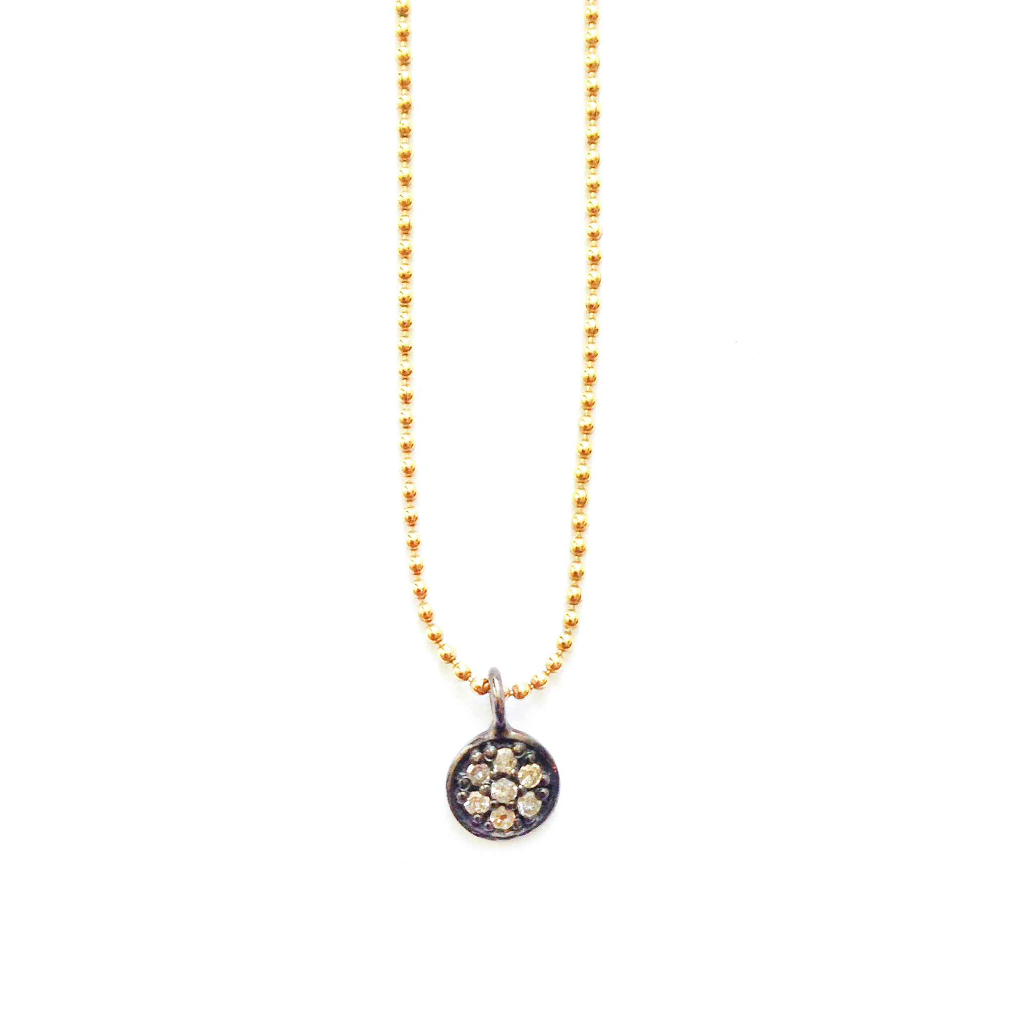 KYA PAVÉ DIAMOND DISC NECKLACE