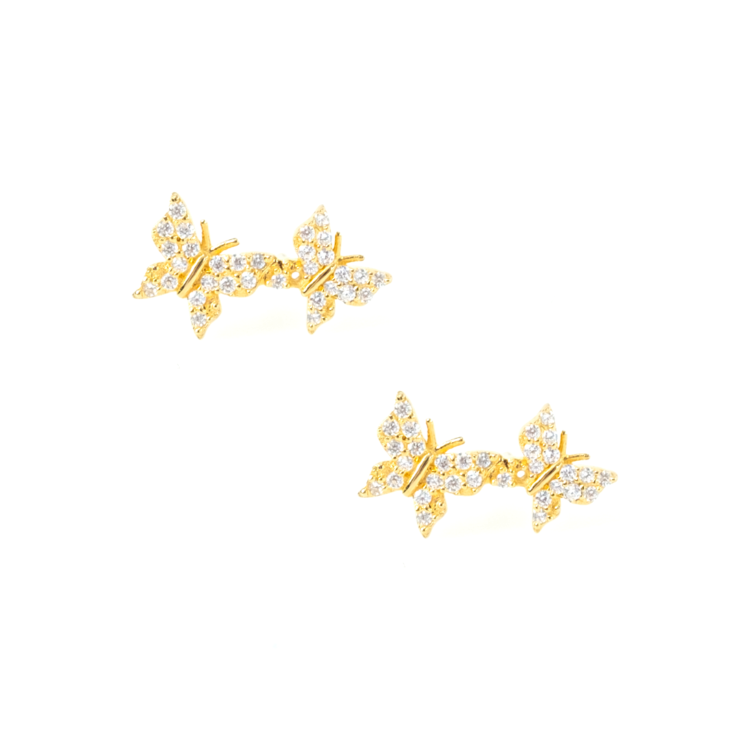 PAVÉ CRYTSTAL BUTTERFLY EARRINGS