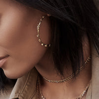 CASSI CRYSTAL CONSTELLATION HOOP EARRINGS