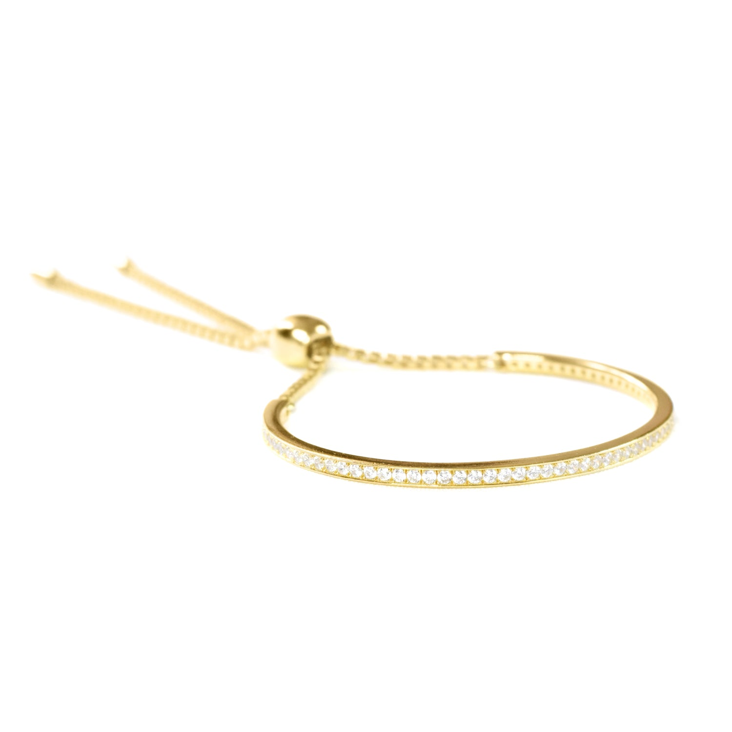 CANNES CRYSTAL ADJUSTABLE CHAIN BRACELET