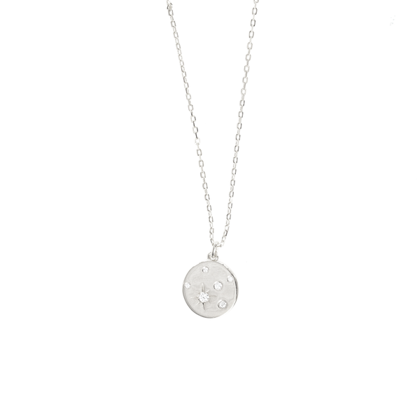 STARBURST DISC PENDANT NECKLACE