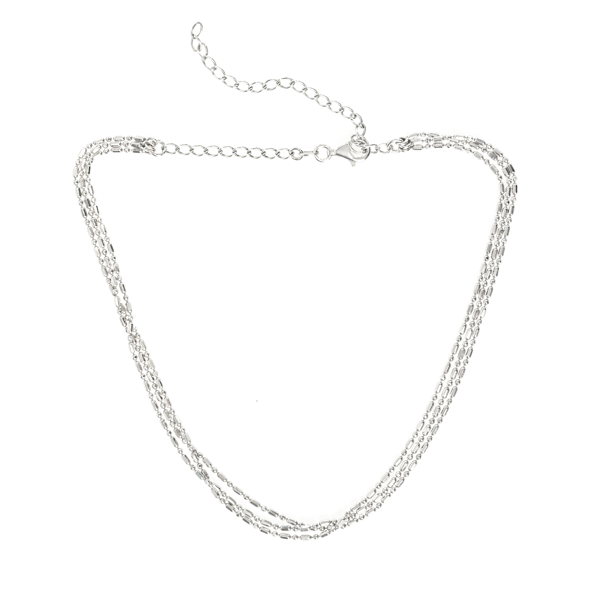 TRIPLE BEADED CHAIN CHOKER