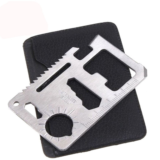 Outdoor Multi functional Stainless Steel Card Tool Camping Universal Tool Hiking Accessories 11-Function includes Survival Pocket