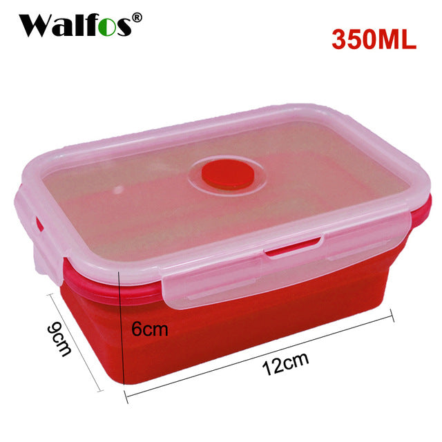 Folding Silicone Lunch Box Stackable Food Storage Containers, Silicone  Collapsible, Freezer To Microwave Oven