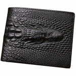 Engraved Croc Wallet
