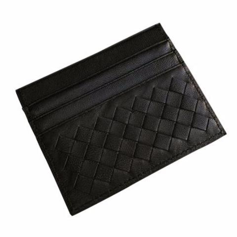 Leather Woven Card Holder