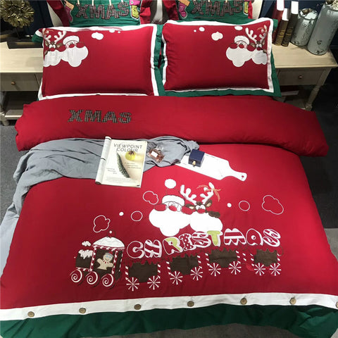 Merry Christmas Egyptian Cotton 500TC Bedding