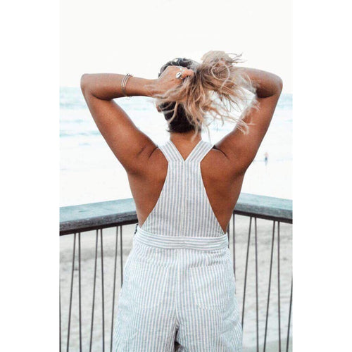 Sexy beautiful exotic handmade linen jumpsuit