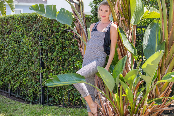 Storia Black and White Overall FINAL SALE - Zuly Boutique Orlando Florida