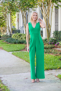 Green Palazzo Jumpsuit - Zuly Boutique Orlando Florida
