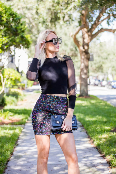Black Multi Skirt FINAL SALE - Zuly Boutique Orlando Florida
