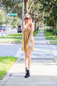 Comfy, Trendy Metallic  Dress
