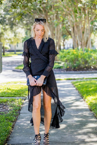 High-Low Wrap Around Dress FINAL SALE - Zuly Boutique Orlando Florida