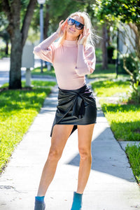 On Twelfth Black Leather Skirt - Zuly Boutique Orlando Florida