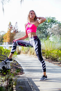 Women's Leggings Black and White - Zuly Boutique Orlando Florida