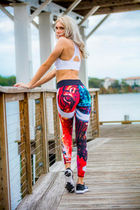 Women's Leggings tiger graffiti - Zuly Boutique Orlando Florida