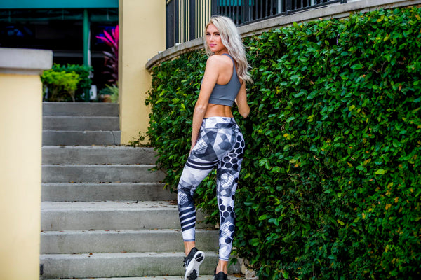 Women's Leggings White and Black - Zuly Boutique Orlando Florida