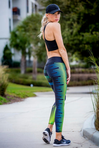 Women's Leggings blue green - Zuly Boutique Orlando Florida