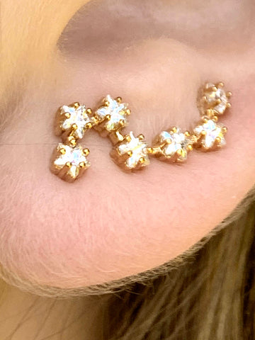 STAR EARRINGS GOLD PLATED - Zuly Boutique Orlando Florida