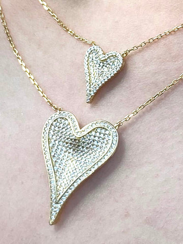 HEART NECKLACE GOLD PLATED - Zuly Boutique Orlando Florida