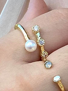 GOLD PLATED PEARL RING - Zuly Boutique Orlando Florida