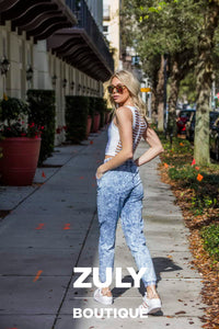 Light Denim Jogger Pants - Zuly Boutique Orlando Florida