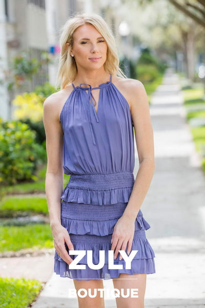 DO+BE Orchid Short Ruffled Dress - Zuly Boutique Orlando Florida
