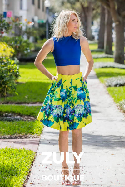 Royal Blue Bandage Crop Top - Zuly Boutique Orlando Florida