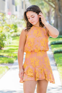 DO+BE Soft Clay Ruffle Dress - Zuly Boutique Orlando Florida