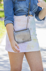 Storia Tie Dye Denim Skirt - Zuly Boutique Orlando Florida