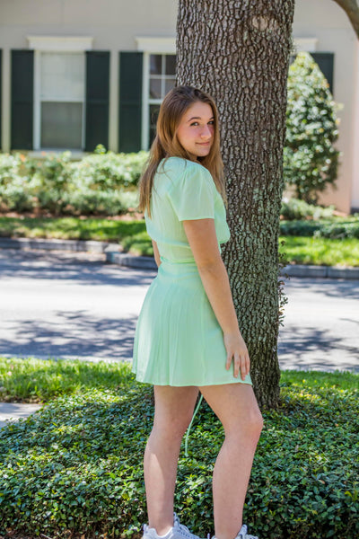 Olivaceous Mint Wrap around Short Dress FINAL SALE - Zuly Boutique Orlando Florida