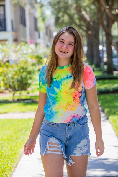 Tres Bien Good Vibes Tie Dye T-Shirt - Zuly Boutique Orlando Florida