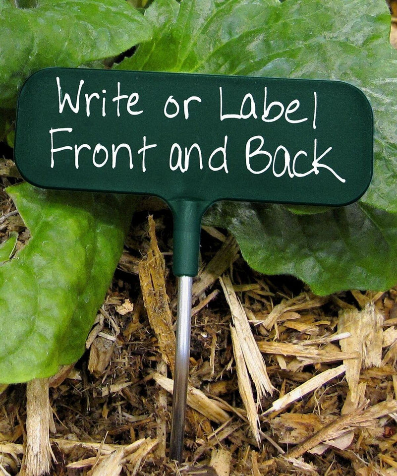 Ideal Garden Marker that's green with writing