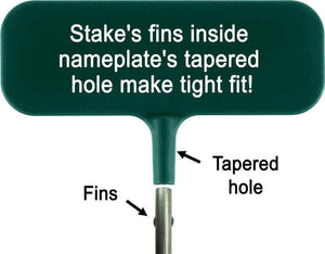 Ideal Garden Marker Nameplate and Stake combined into Plant Marker diagram