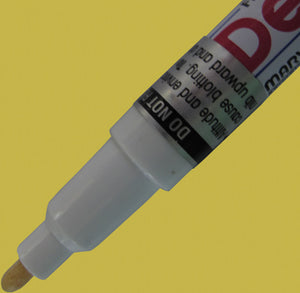 Gold Fine Tip DecoColor paint pen for writing on Garden Markers