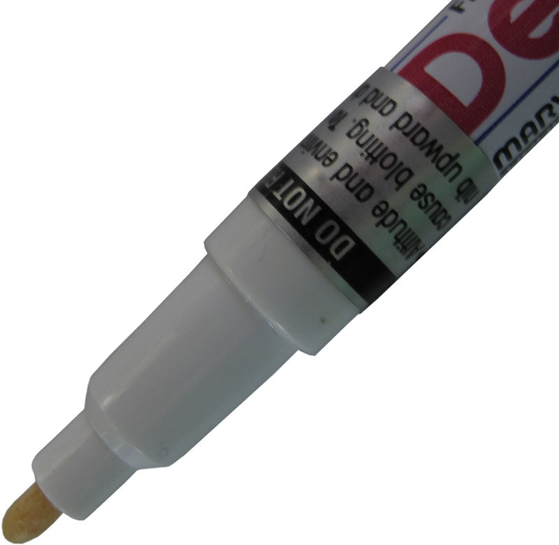 White fine tip DecoColor Paint Pen for writing on garden markers